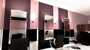 Интерьер в салоне красоты