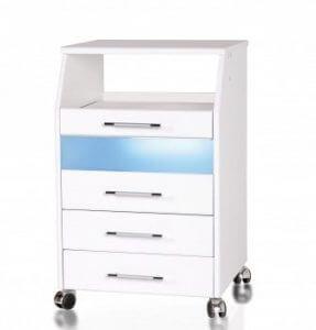 шкафы с УФ блоком 287x300 - Педикюрные тумбы. Обзор моделей и производителей