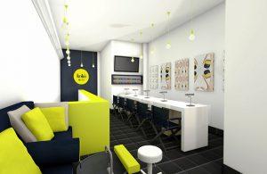 Яркий дизайн маникюрного кабинета