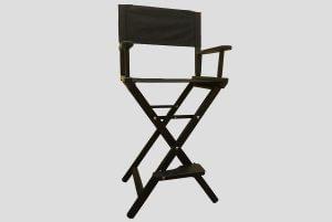 Черный складной стул для визажиста