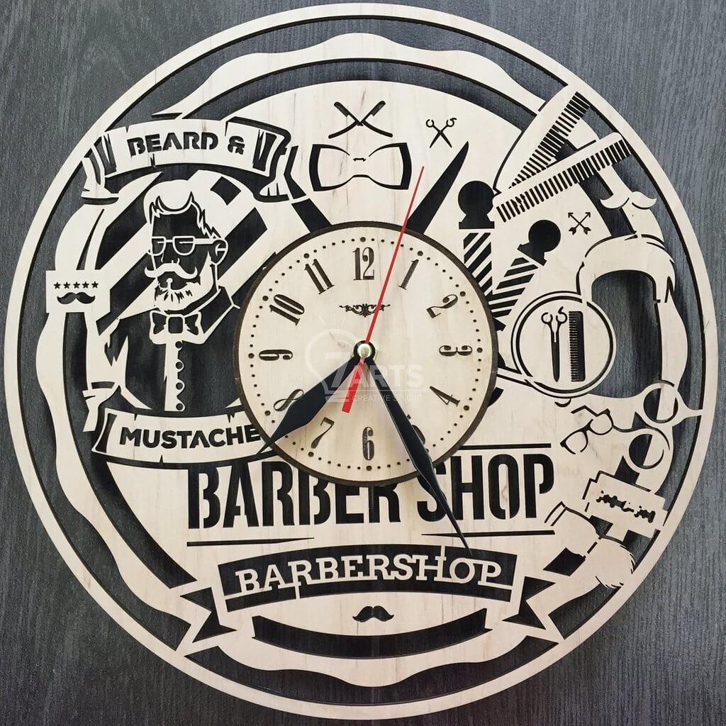 Часы для барбершопа
