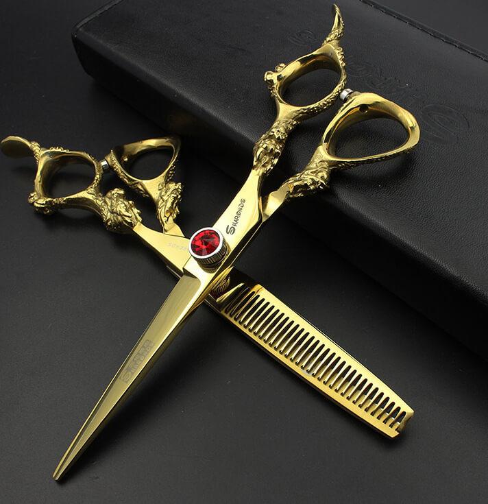 ножницы парикмахерские с позолотой